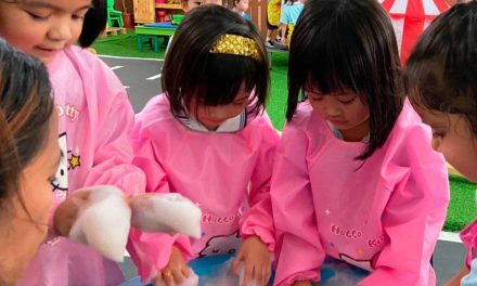 Purple Foam Bubbles Sensory Play Write Up 2021